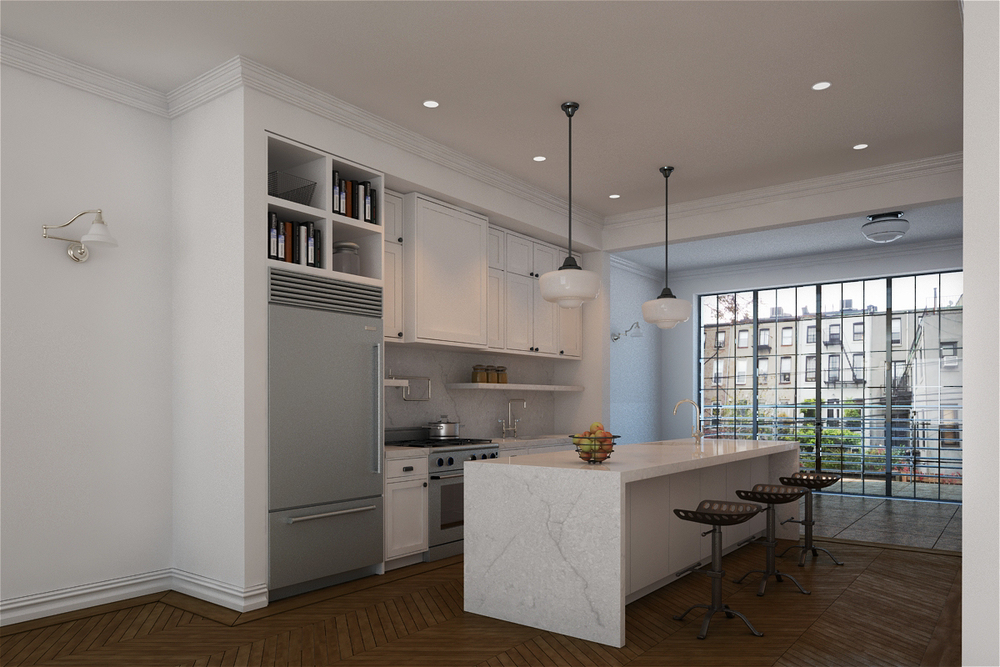 Meshberg Group renovation of Brooklyn townhouse kitchen.jpg