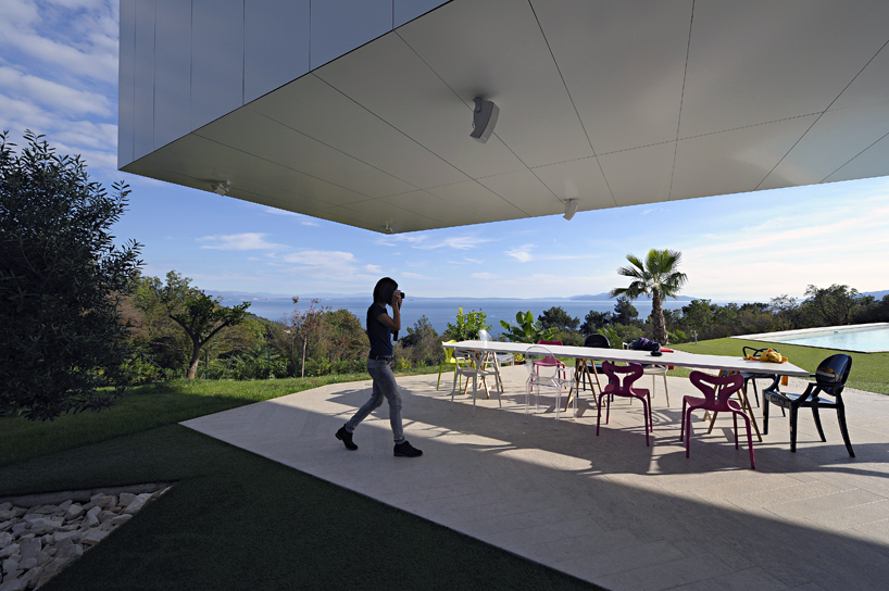 Nest and Cave House shaded patio area with nest wing cantilevered over the space Croatia.JPG