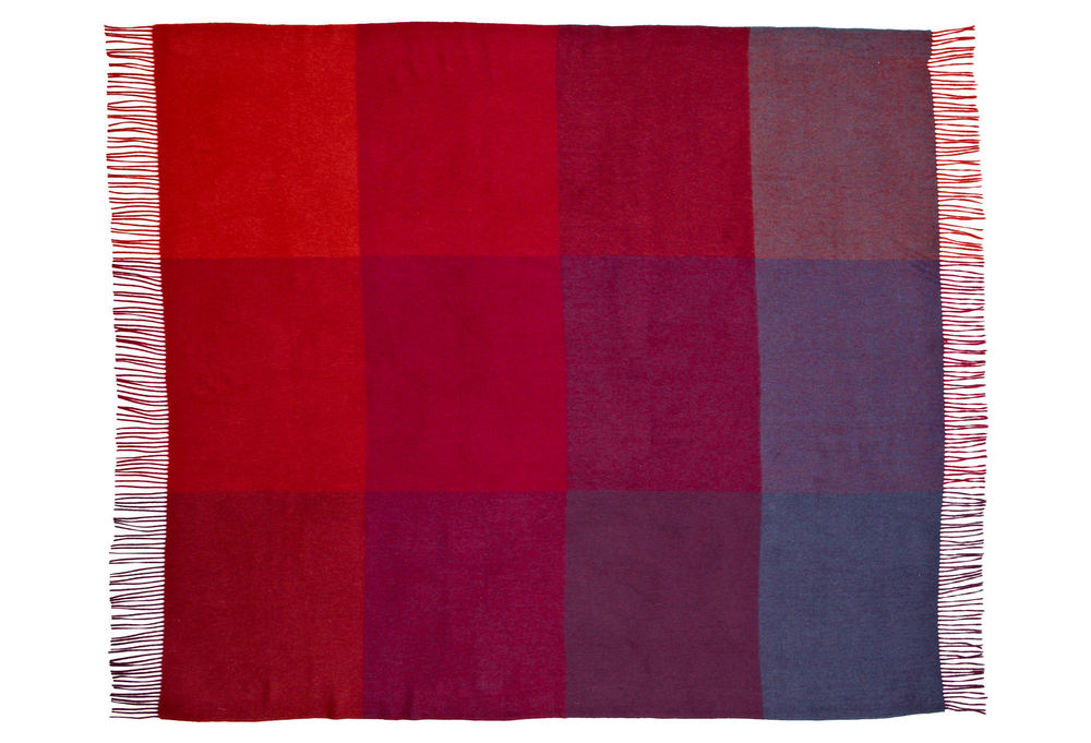 Qi Home has a winner here, with their Color Block cashmere throw in wine. (Love romantic cashmere!)