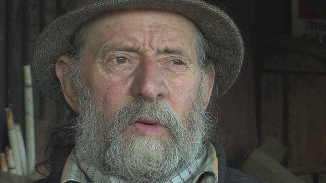 Bruce the caravan owner in Vimeo documentary Life on the Verge.jpg