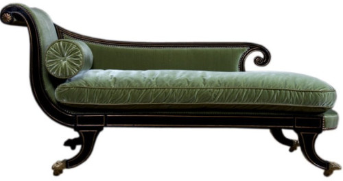 Regency style recamier or chaise