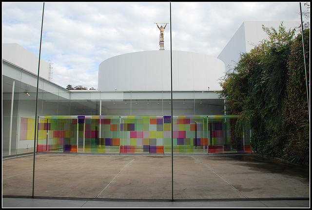 interior courtyard art installation from 21st century muesum of contemporary art Kanazawa Japan.jpg