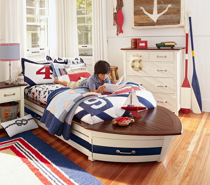 Speedboat II Bed and Trundle from Pottery Barn Kids