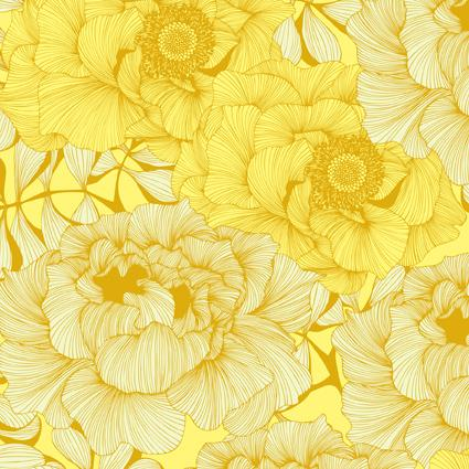 Roseflower Yellow by Camilla Meijer