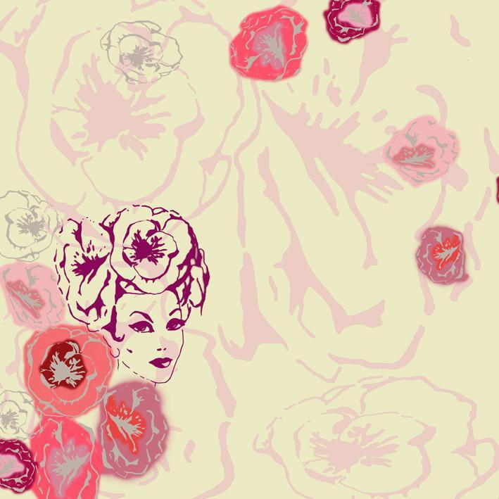 Foxy Flowers - Creme by Elli Popp
