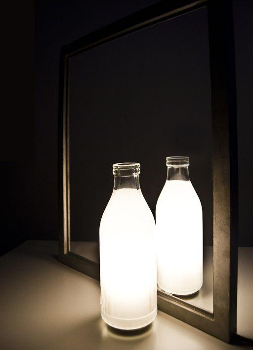 Litro di Luce light sculpture by Marcello Chiarenza