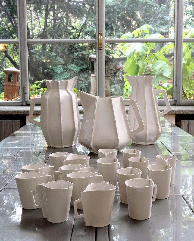 Ceramic cups and jugs by Piet Hein Eek