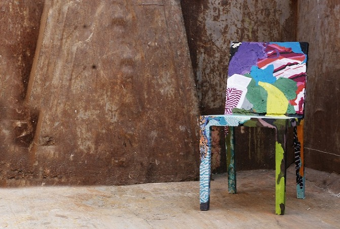 Tobias Juretzek's Remember Me chair made from recycled clothing
