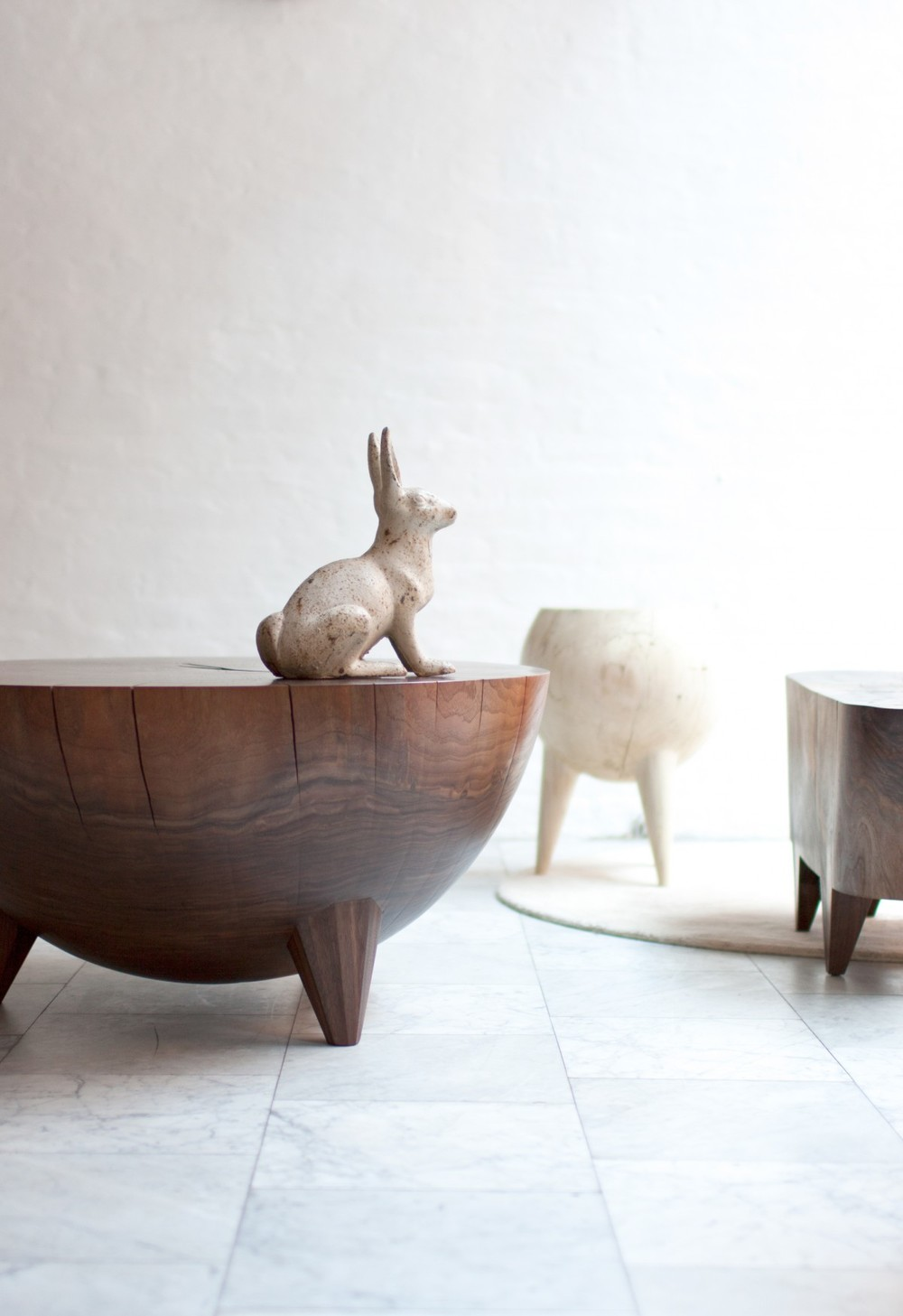 Wooden Kieran Stump Tables from Kieran Kinsella