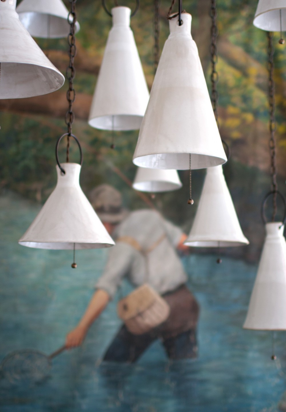 Ceramic Page Pendant Lights hand-made by Natalie Page