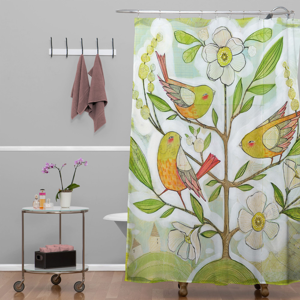 Totally see this in a tween's bath: Cori Dantini Community Tree Shower Curtain for DENY Designs