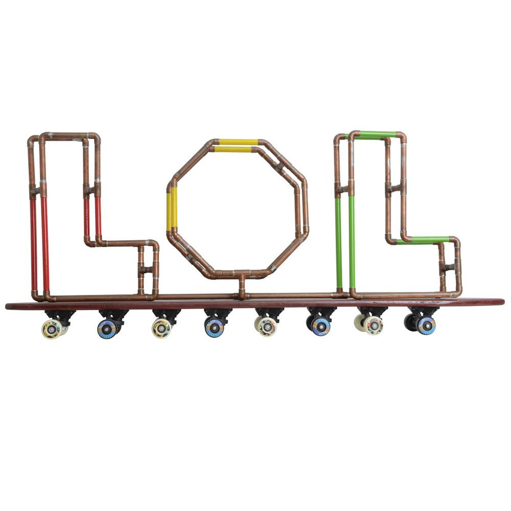 LOL Skateboard Sculpture, Tom Banks, 2000