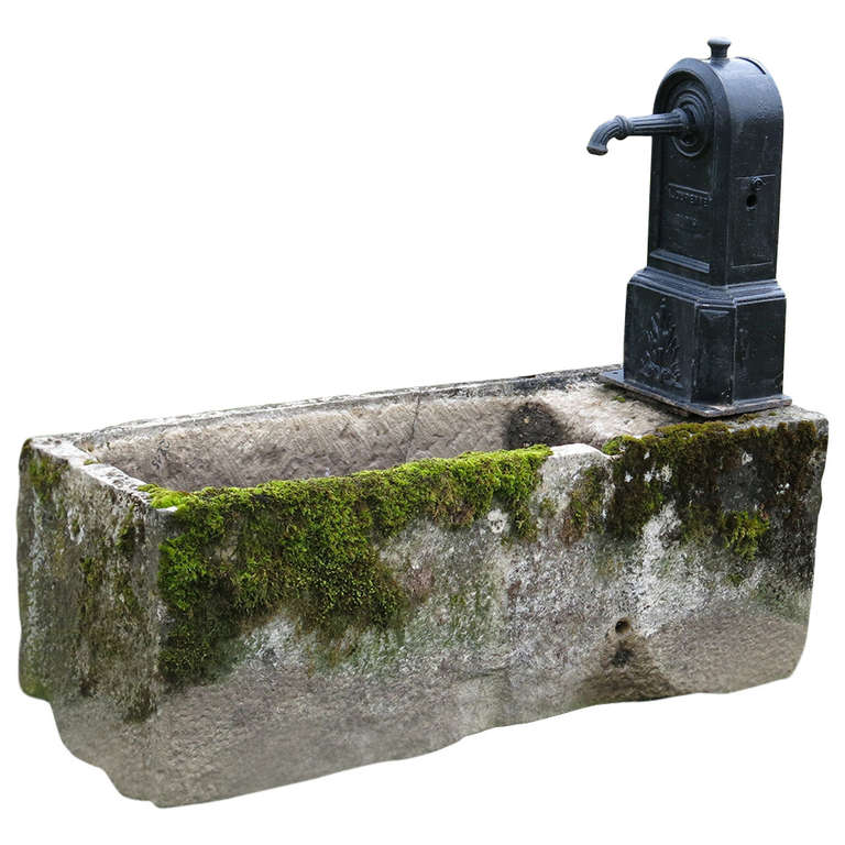 "French ""Village"" Fountain, limestone and iron, 1880s"
