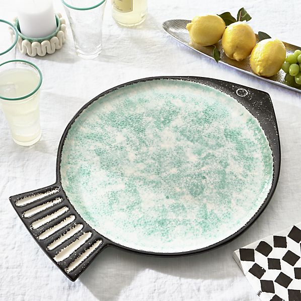 Sizzling Ceramics: Fish Green Platter by Paola Navone