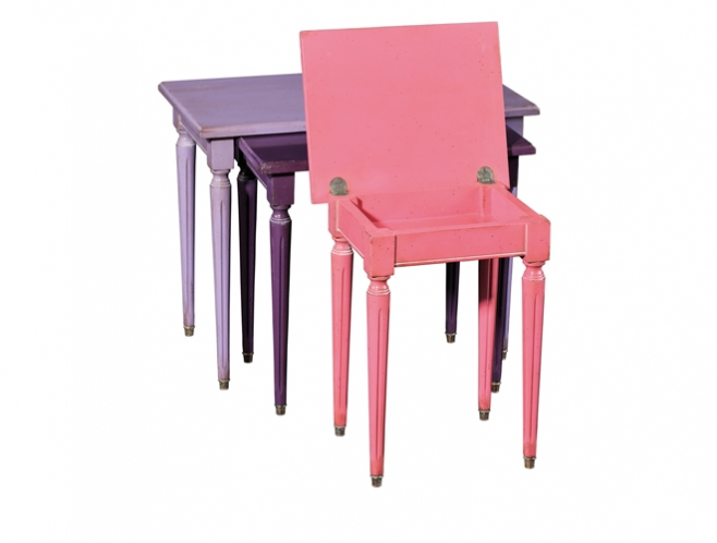 Ermitage Nest of Tables with flip-top storage