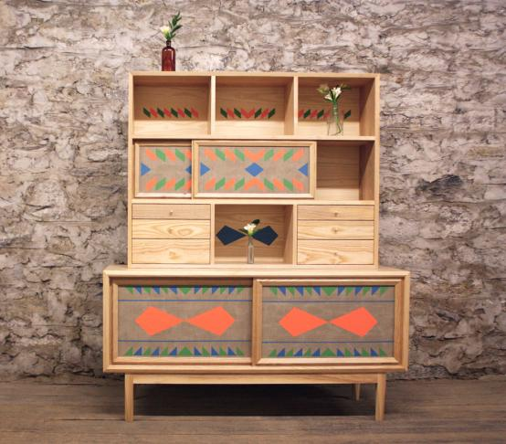 Dean handmade credenza with storage unit from Volk