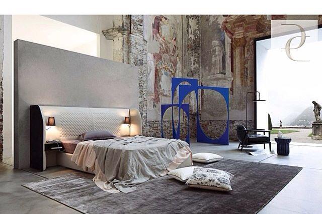 Cherche Midi Bed in Leather by Eric Gizard for Roche Bobois