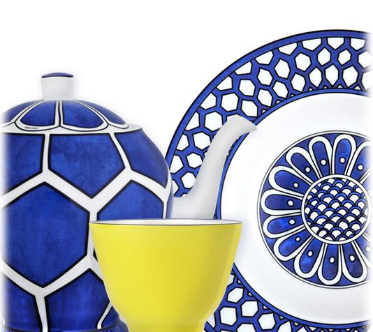 Hermes Home: Bleus d'Ailleurs Porcellain Earthenware