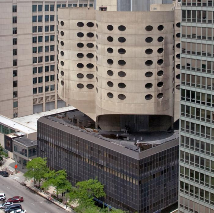 Prentice Women's Hospital, Chicago, designed by Bertrand Goldberg