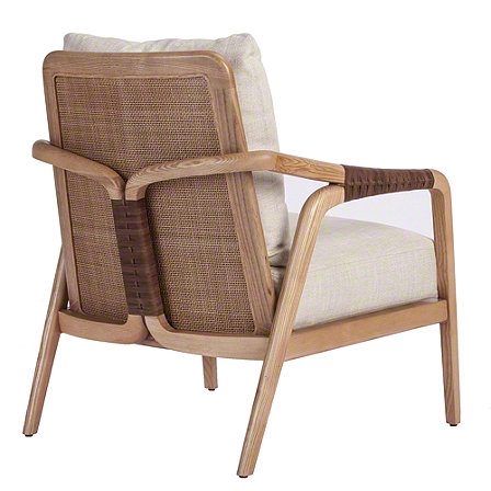 Knot Lounge Chair by McGuire Furniture features beautiful leather bindings - a classic chair.