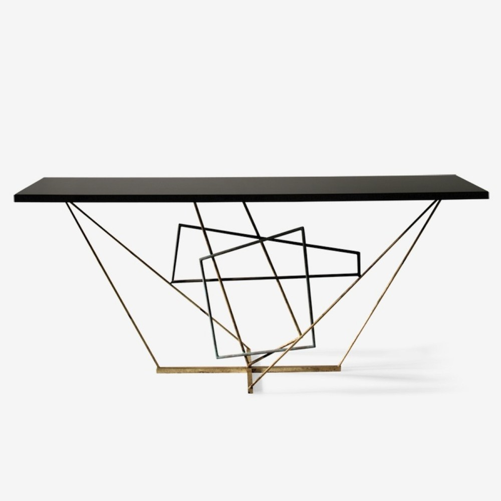 Rhomboid Console Table from Porta Romana