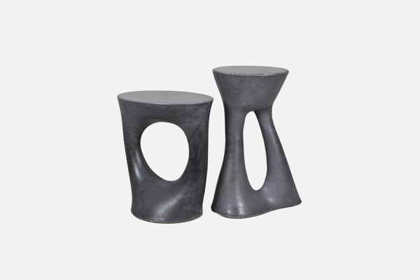 Kreten Side Tables in charcoal for Souda
