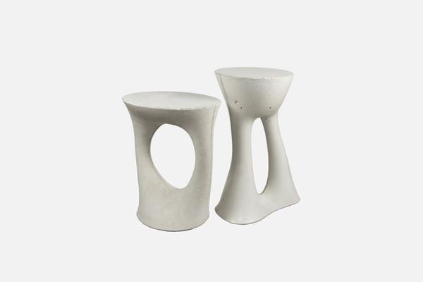 Kreten Side Tables in grey for Souda