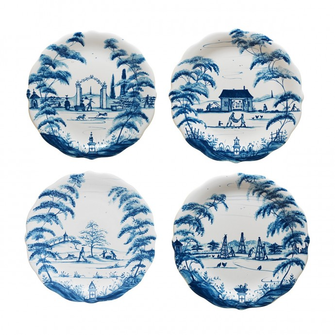Juliska's Country Estate party plates in Delft Blue