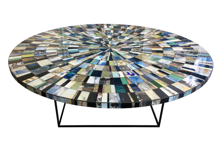 Aqua coffee table from Ercole Home