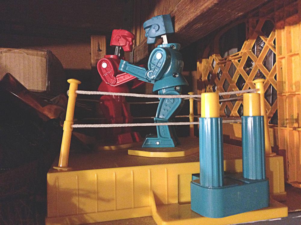 Robots hanging in the studio