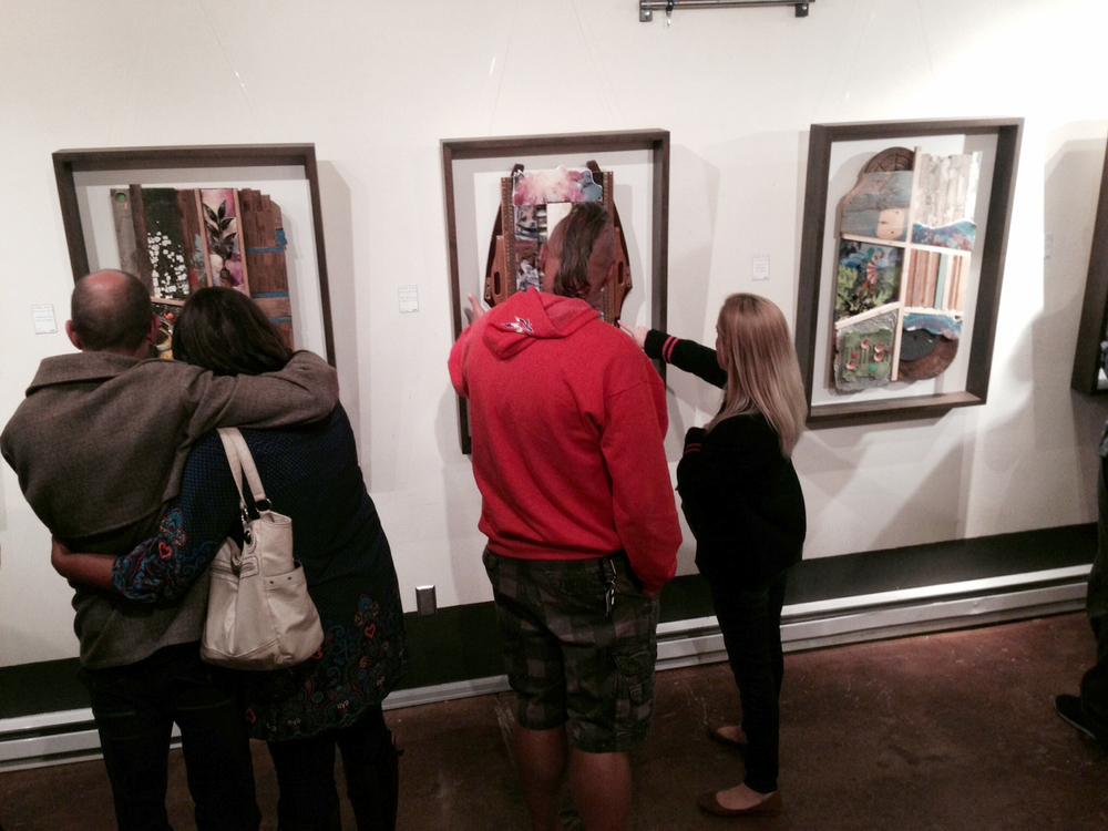 gallery goers