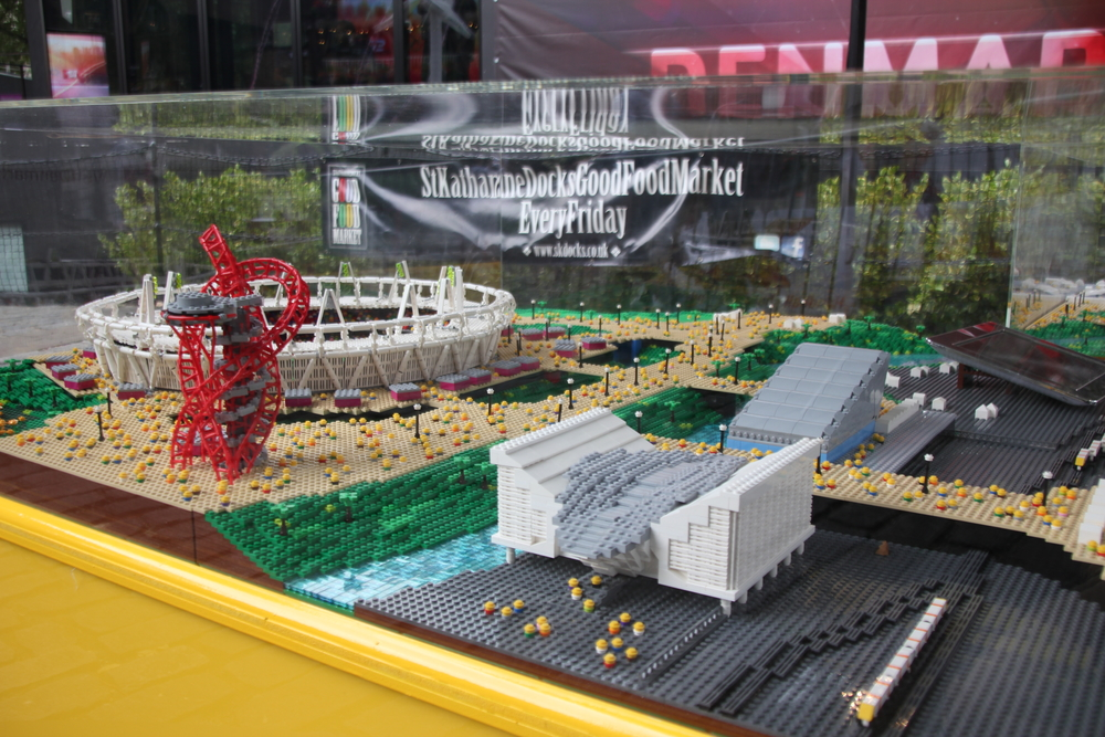 The Stratford stadiums - in LEGO