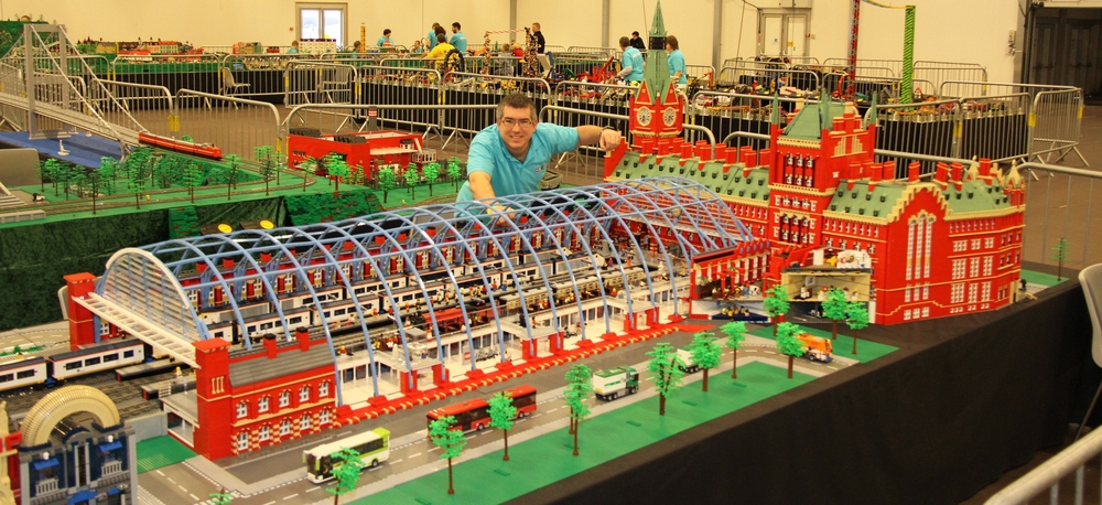 St Pancras Station on display at LEGOWorld Copenhagen