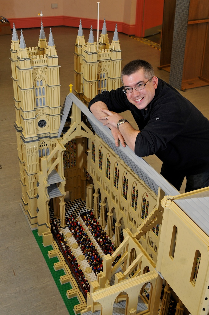 Warren Elsmore with LEGO Westminster Abbey.jpg
