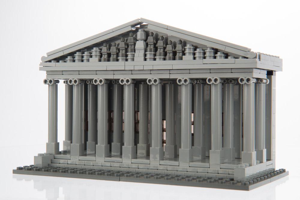 British Museum Portico model