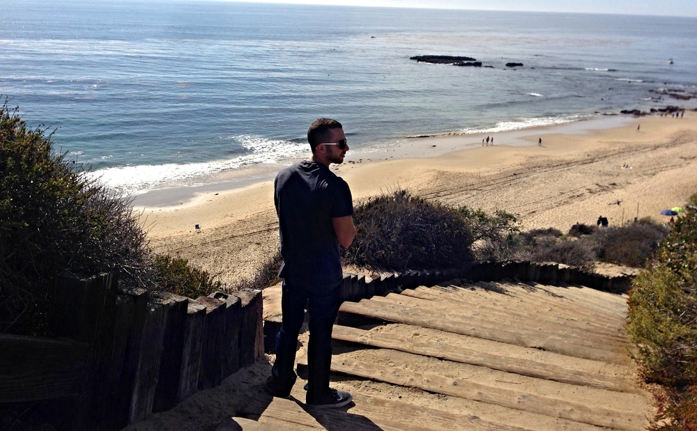 We took like 100 photos of Jake @ Crystal Cove. Have to get the Perfect Instagram Shot!