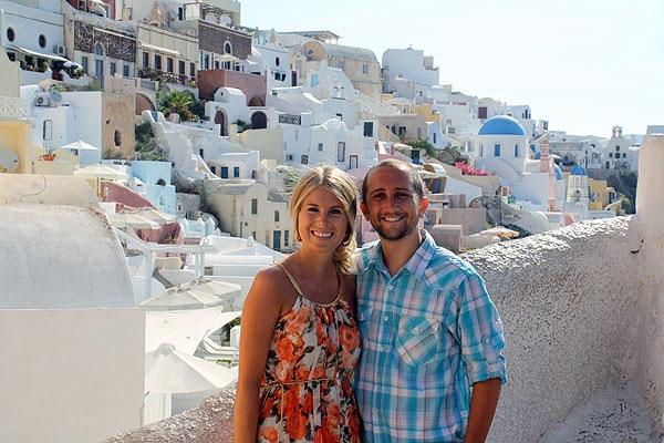 Us in Santorini in 2012