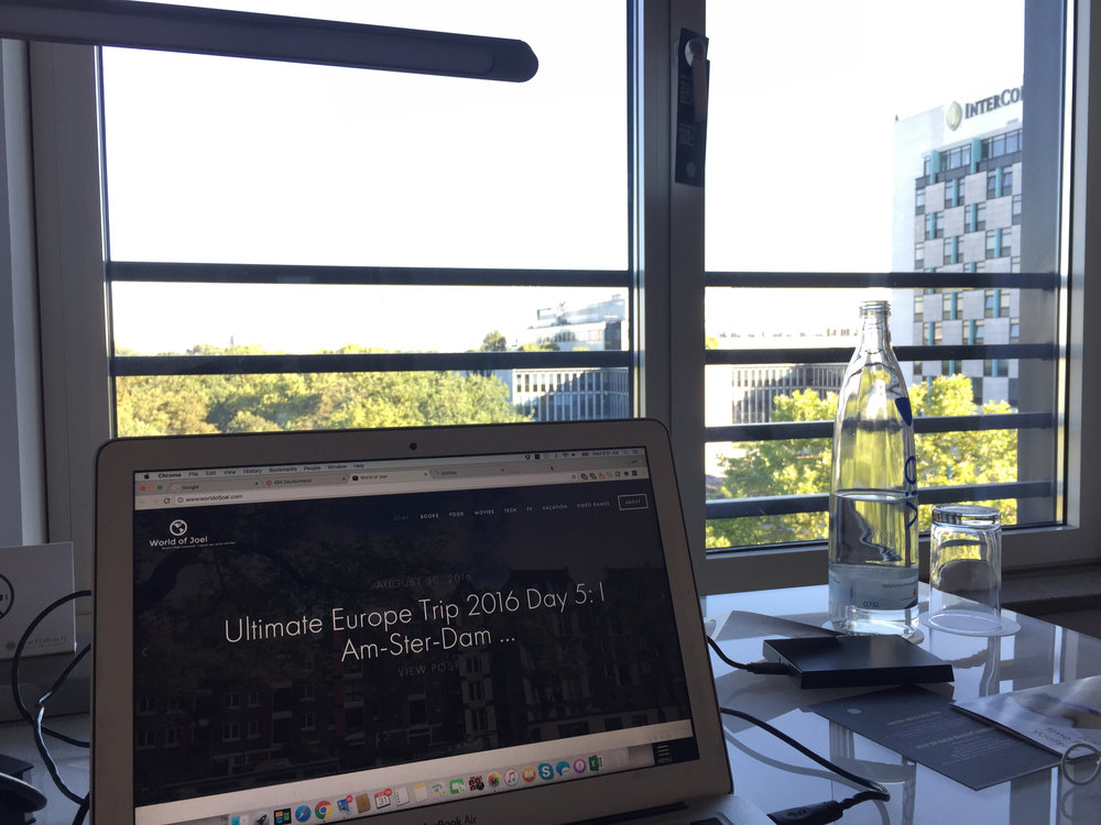 Writing my post for the day (beautiful morning in Berlin)