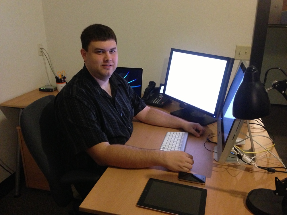 Austin Gabel, Sr. Developer working on our iOS app.