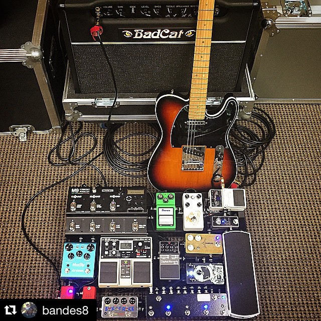 #Repost @bandes8 with @repostapp. ・・・ Finally re-wired the pedalboard today after getting the M9 back from being modded by Jack Vaughn of JHV3. He was great to work with and the thing sounds incredible now! Thanks Jack! Got it all dialed up for this weekend. @jhv3 #jhv3 #globalworship #gearnerds #badcatamps
