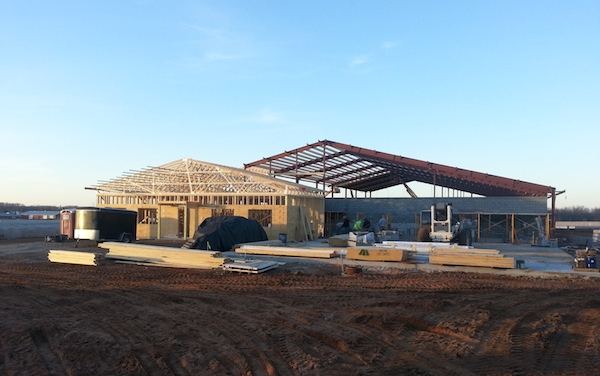 Pine Breeze Dairy construction - November, 2012