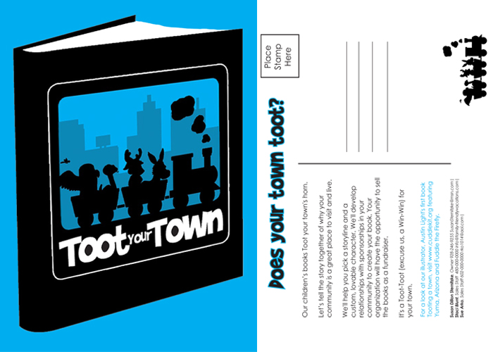 Toot Your Town postcard