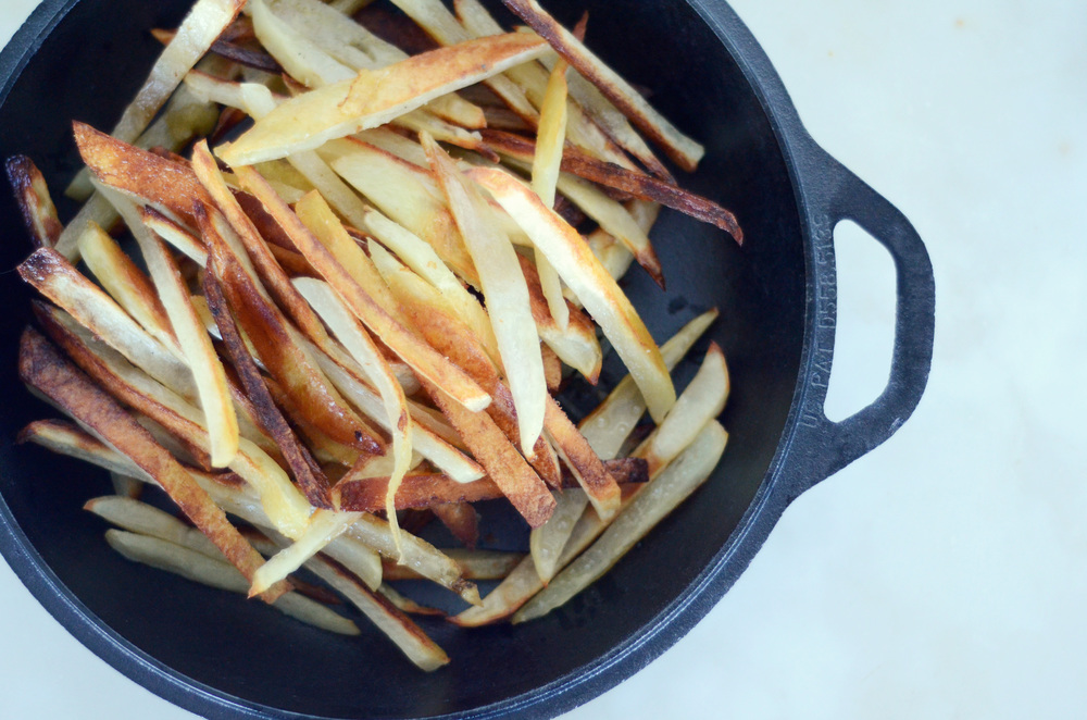 Oven Baked Fries With Olive Oil and Sea Salt