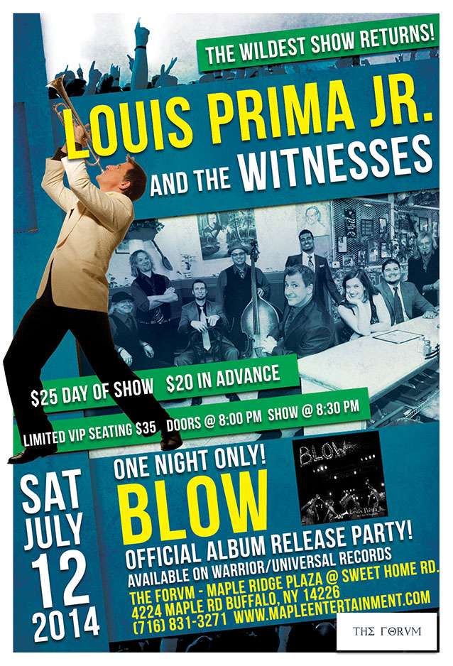 Louis Prima Jr. and The Witnesses Tour Poster