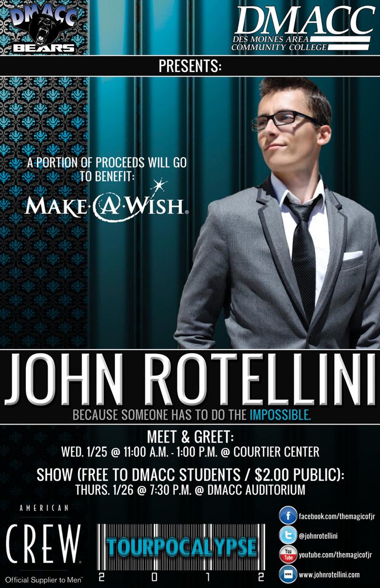 John Rotellini U.S. Tour Poster