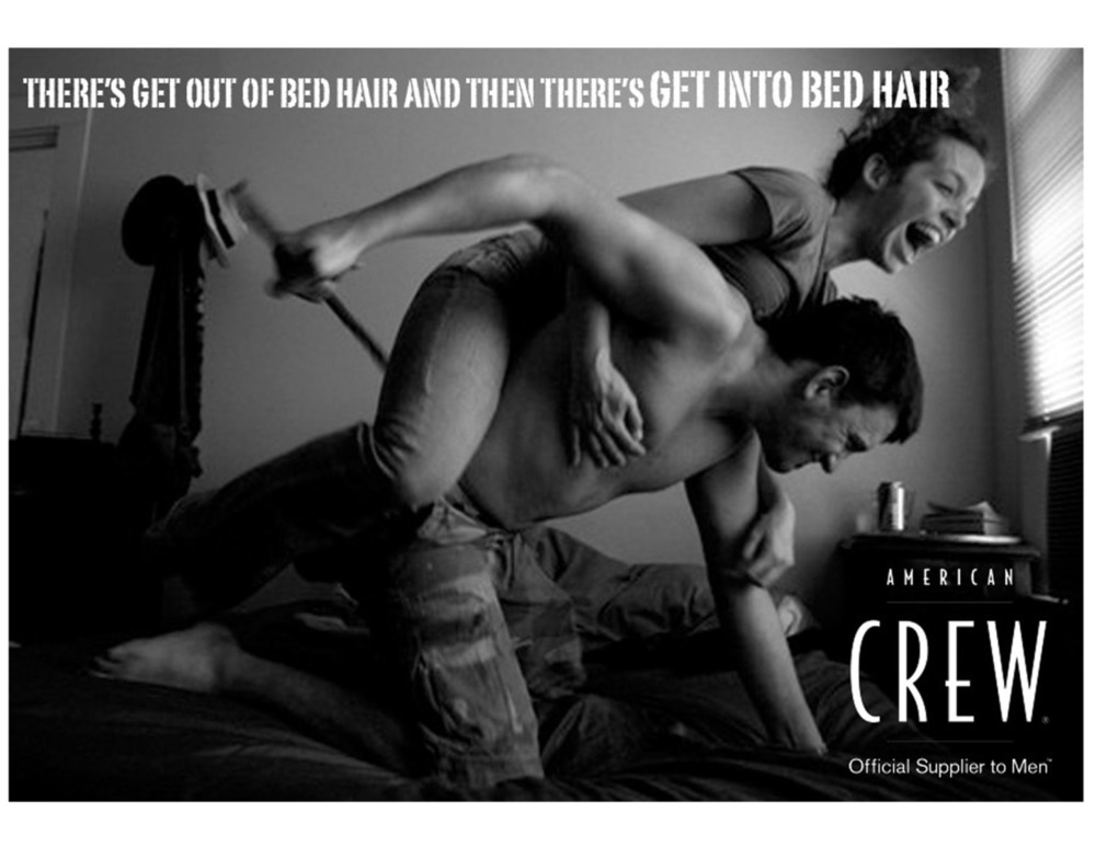 American Crew Bed Hair Advertisement