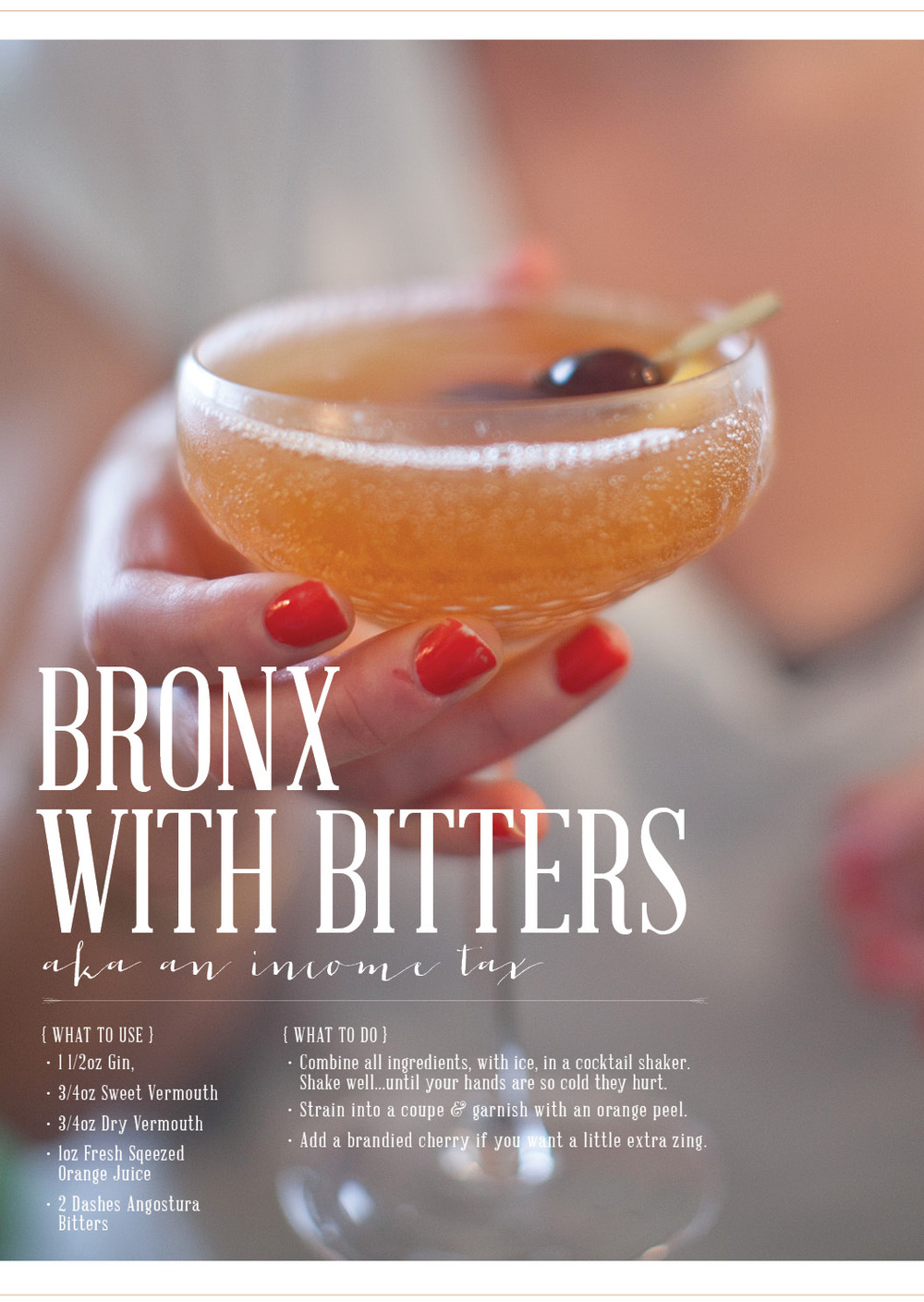 recipe found in Vintage Spirits and Forgotten Cocktails | image by lily glass