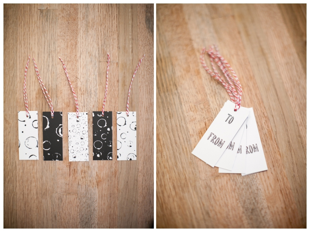 gift tags from hart & honey