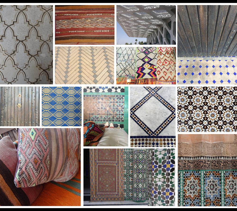 Marrakech Morocco patter texture textiles tiles