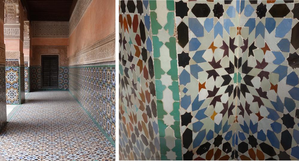 Ben Youssef Medersa - Marrakech Morocco - tile